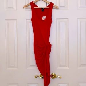 NWT. Planet Gold Jalapeño Red Fitted Dress Size XS